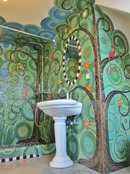 Frances Green Mosaic Bathroom