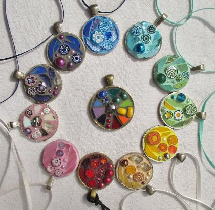 Frances green mosaic pendants aloadofball Image collections