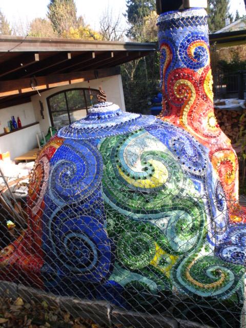 Frances Green Mosaic Pizza Oven