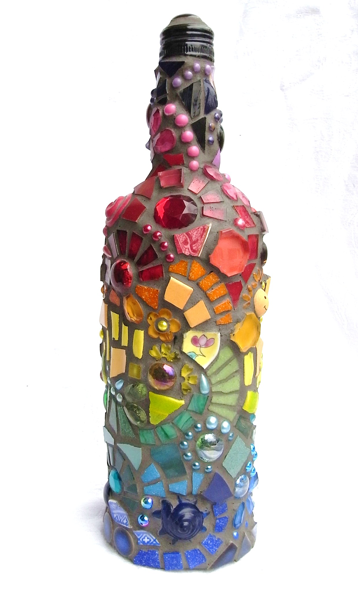 frances green mosaic bottle rainbow